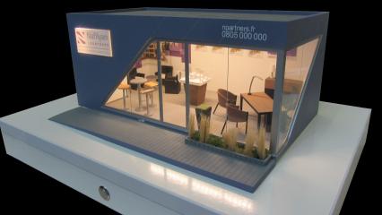Maquette d'un modèle de bureau de vente