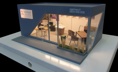 Maquette d'un modèle de bureau de vente image 1